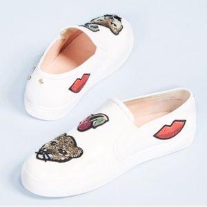Kate Spade Lizbeth Meow Graphic Slip On Sneakers